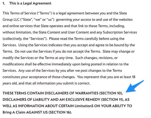 Why Do Legal Documents Like Terms Of Service Agreements Often