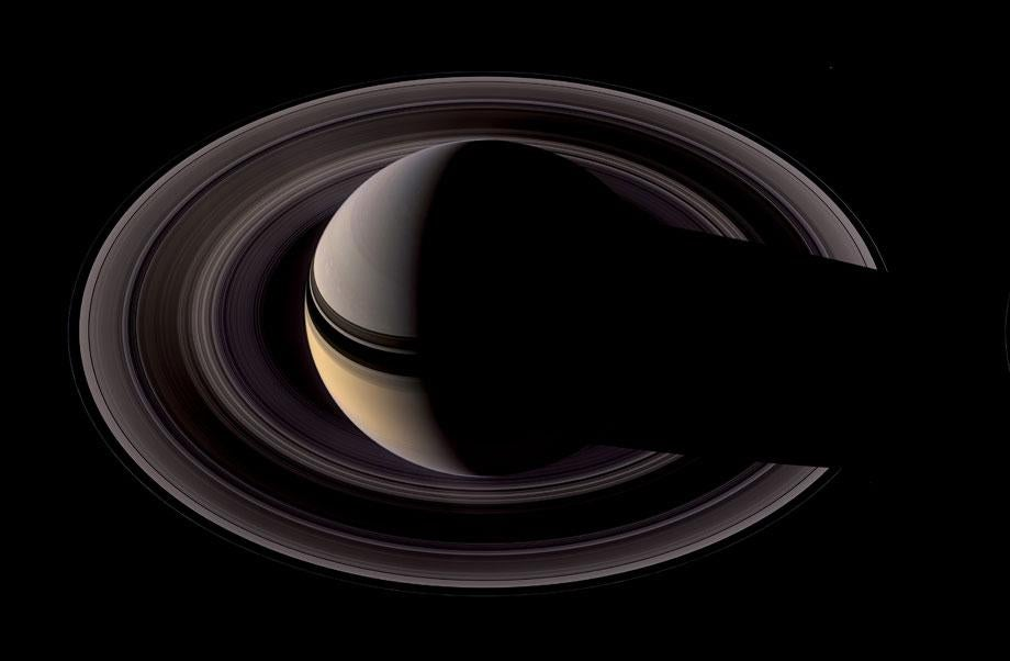 Northern View of Saturn and the Darker Side of the Rings, Cassini, May 9, 2007, 2012. Credit: NASA/JPL-Caltech/Michael Benson/Kinetikon Pictures. (c) All Rights Reserved.
