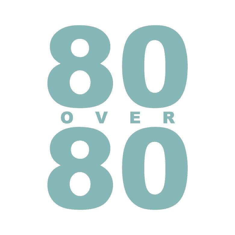 80 Over 80 logo