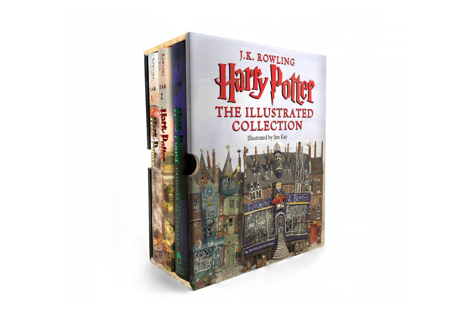 Harry Potter: The Illustrated Collection Books 1-3 Boxed Set.
