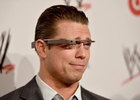 The Miz wearing Google Glass