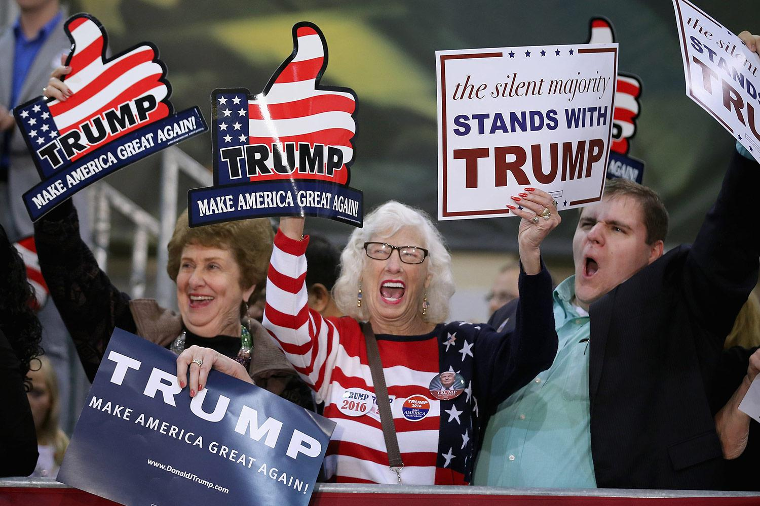 Trump supporters cheer