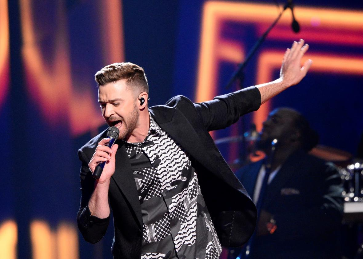 "Justin Timberlake performing ""Can't Stop the Feeling"" at Eurovision"