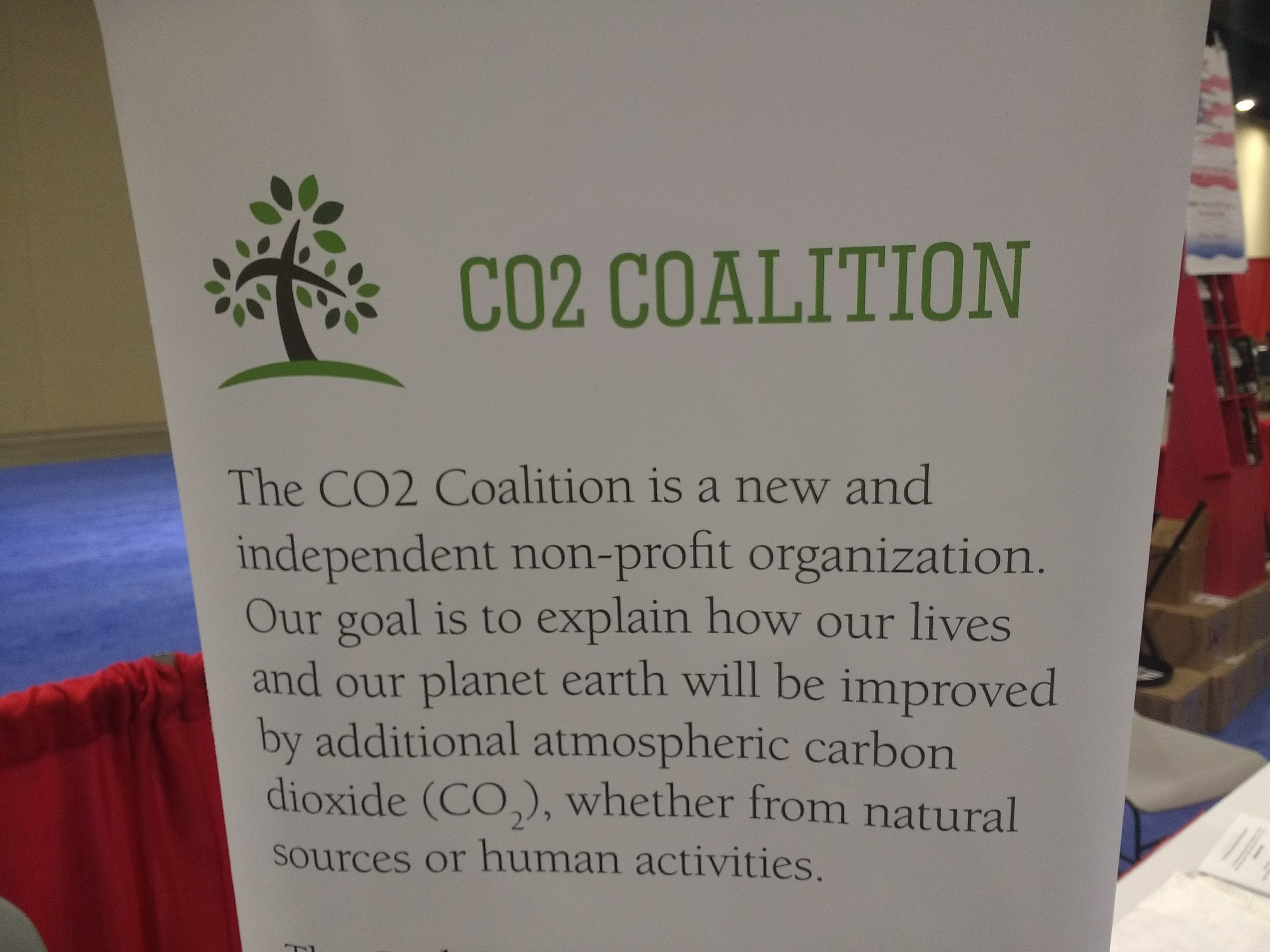 The CO2 Coalition is a nonprofit founded in 2015 to promote the benefits of increasing carbon emissions.