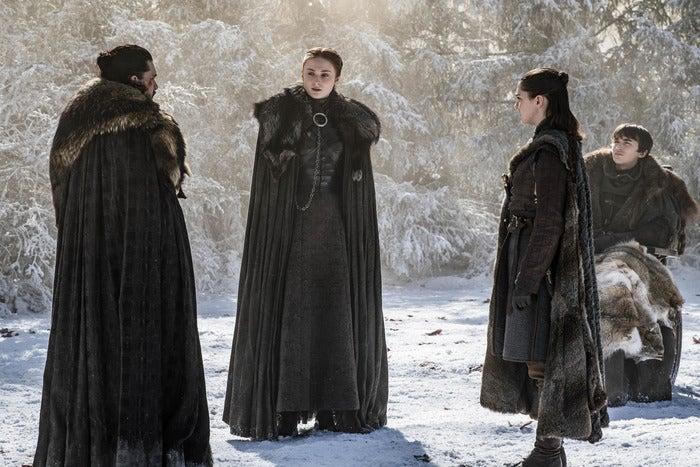 A still of the Starks.