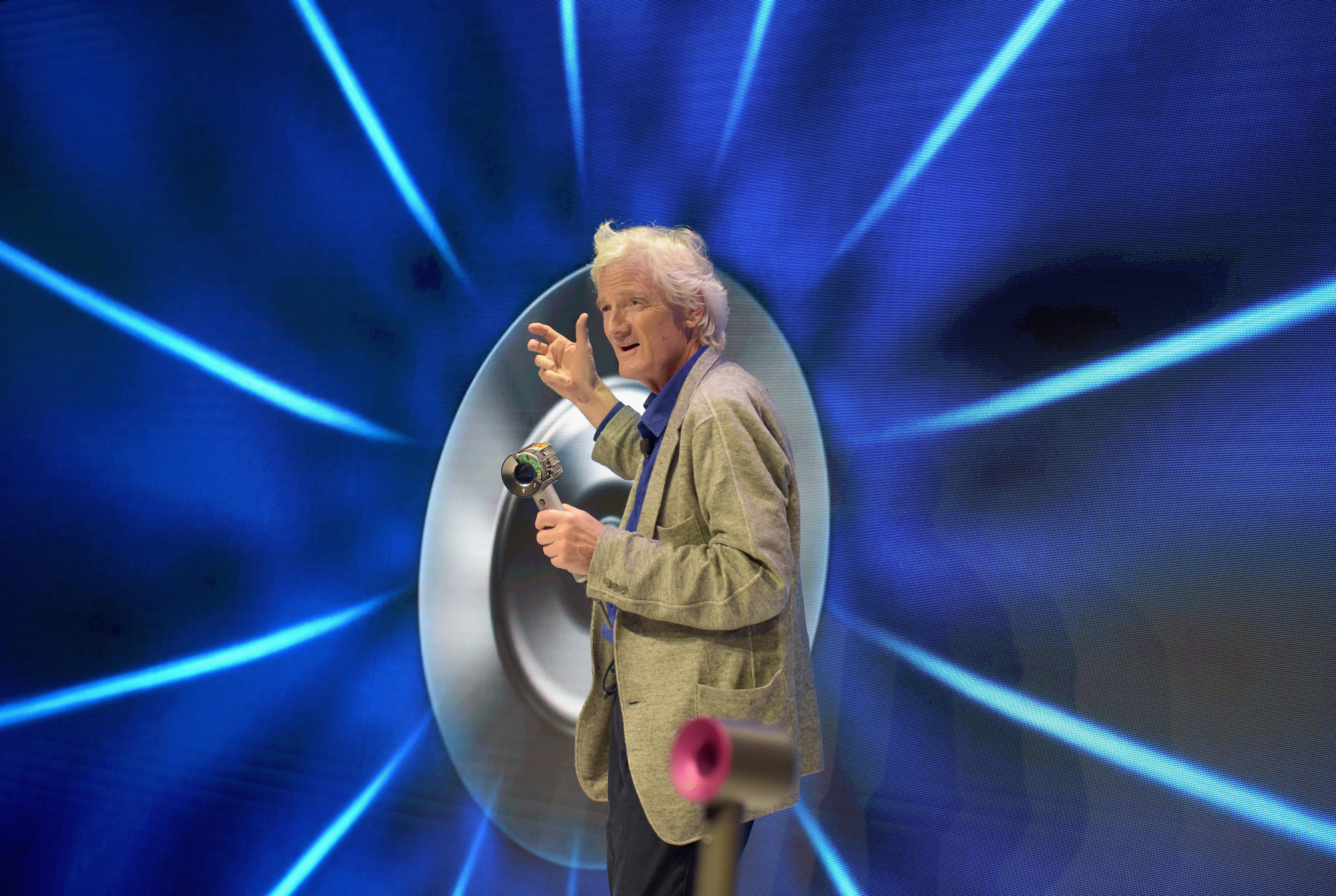 Dyson founder and chief engineer Sir James Dyson speaks onstage during the Dyson Supersonic Hair Dryer launch event on Sept. 14, 2016, in New York City.