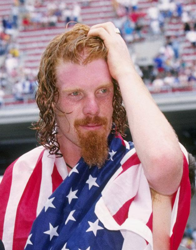 Alexi Lalas of the USA in New Jersey, June 1995.