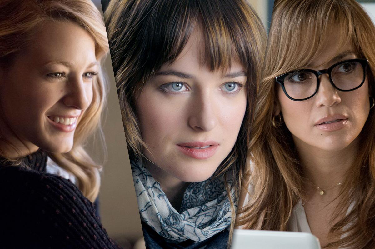 Stills from The Age of Adaline, Fifty Shades of Grey, and The Boy Next Door