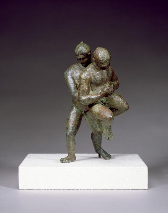 Greek Olympic Wrestlers sculpted during 2nd century AD.