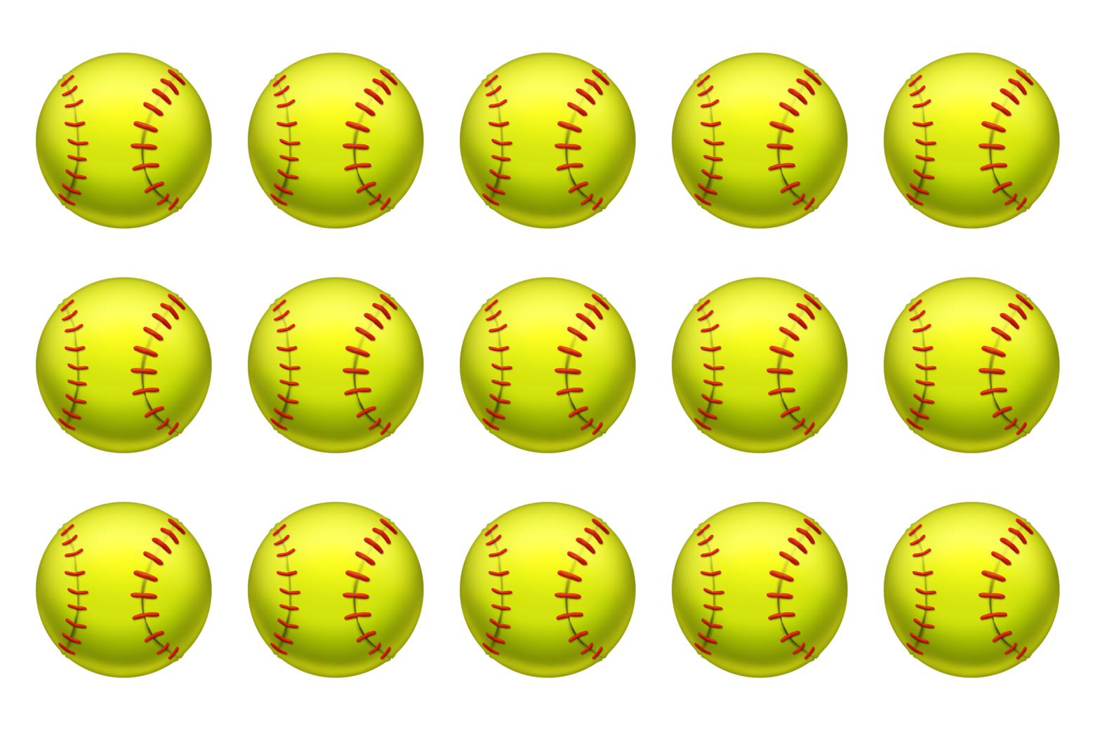 Softball emojis.