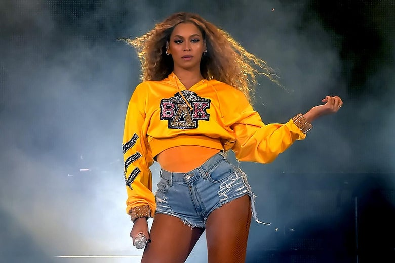 Beyonce Knowles performs onstage during Coachella 2018.