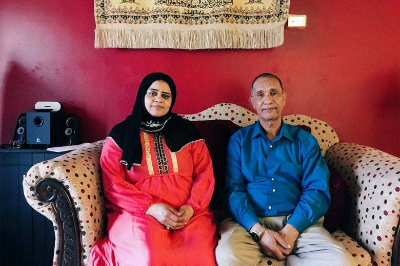 Nabra's parents, her mother Sawsan Gazzar, and her father, Mohmod Hassanen.