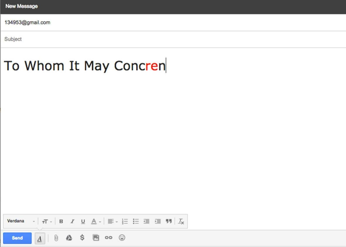 email error.