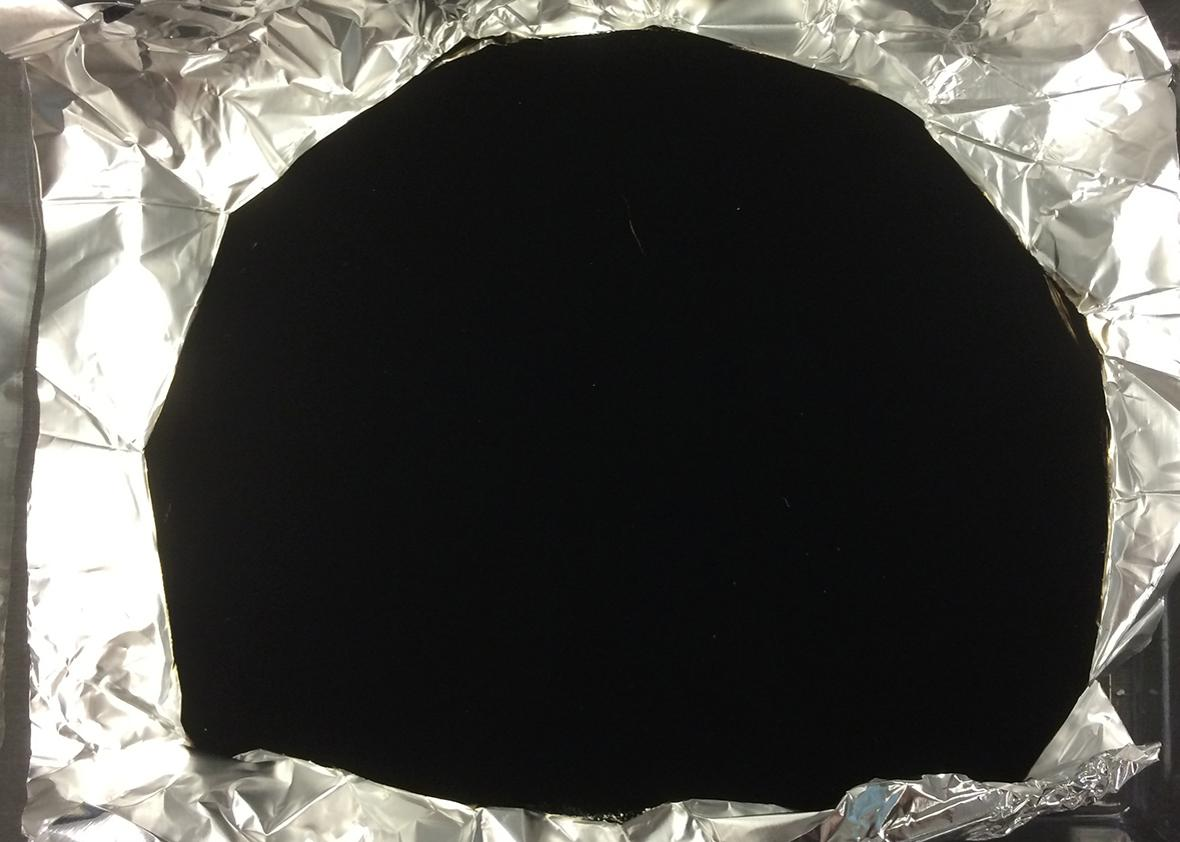 Vantablack grown on tinfoil.