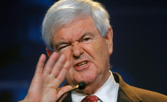 Republican presidential candidate, former Speaker of the House Newt Gingrich