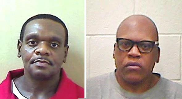 Henry Lee McCollum, left, and his half-brother, Leon Brown, are shown in these booking photos provided by the North Carolina Department of Public Safety in Raleigh, North Carolina, on Sept. 2, 2014. The two men spend years on death row before being exonerated last year.