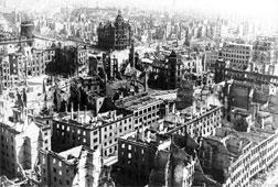 Bombed-out Dresden, Germany, in 1945.