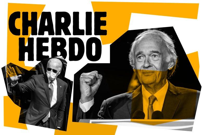 The Charlie Hebdo logo, Ed Markey, and Joe Biden