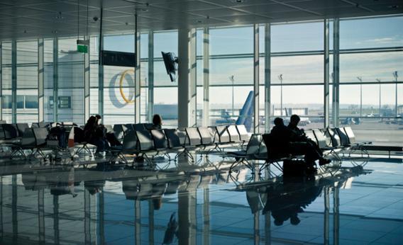 Airport terminal.