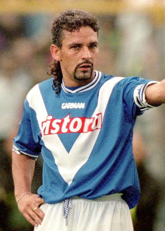 Roberto Baggio of Brescia during the Coppa Italia match against Juventus in Brescia, Italy.