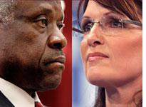 Clarence Thomas and Sarah Palin. Click to enlarge image.
