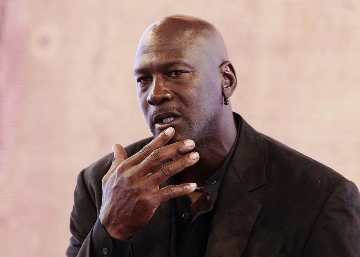 Michael Jordan at the Palais de Tokyo in Paris on June 12, 2015.
