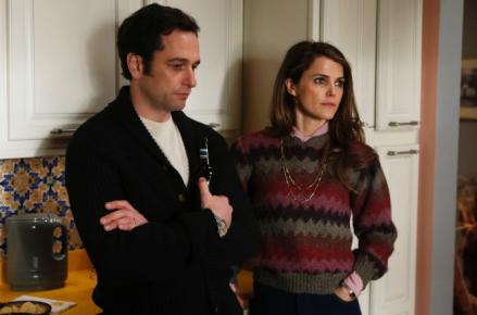 Matthew Rhys as Philip Jennings and Keri Russell as Elizabeth Jennings