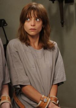 Lizzie Brochere as Grace in this week's episode of 'American Horror Story: Asylum.'