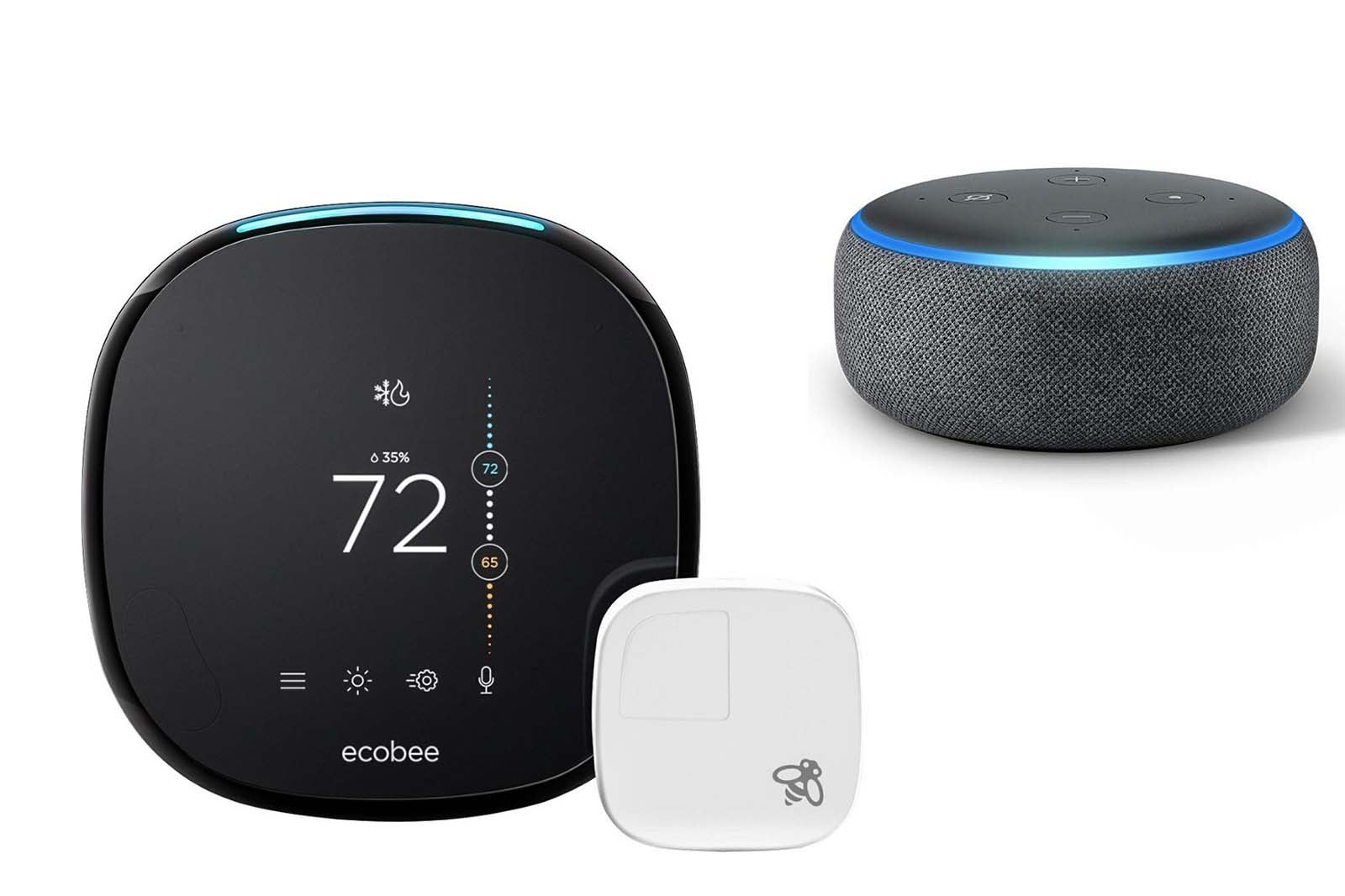 ecobee4 Smart Thermostat + Echo Dot (3rd Gen).
