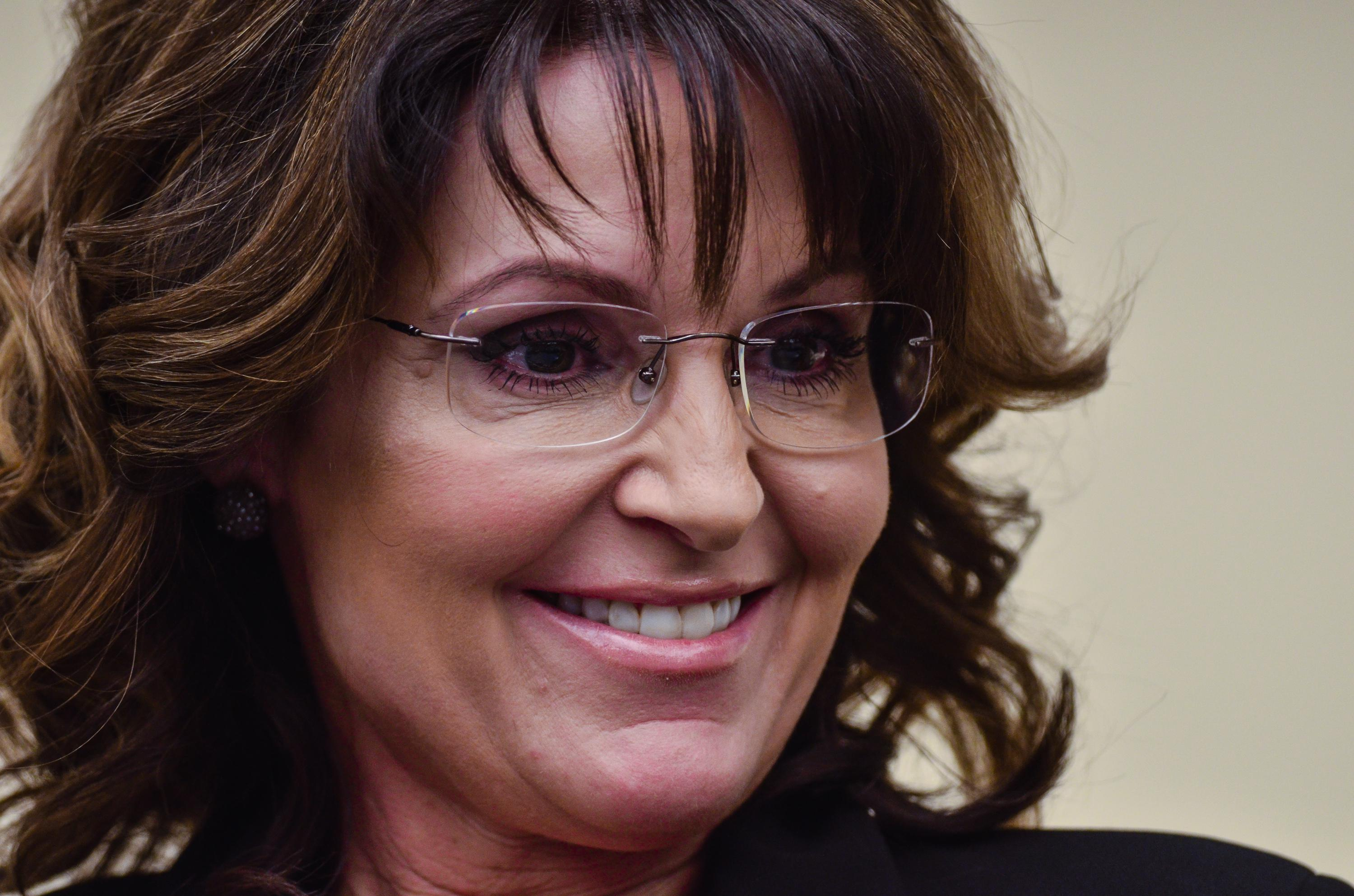 Sarah Palin in close-up.