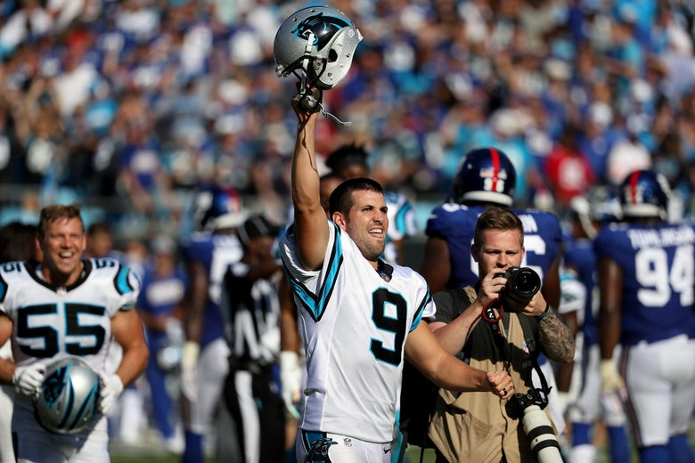 finest selection f2a53 9d81f Graham Gano game-winner: The Panthers kicker might be a witch.