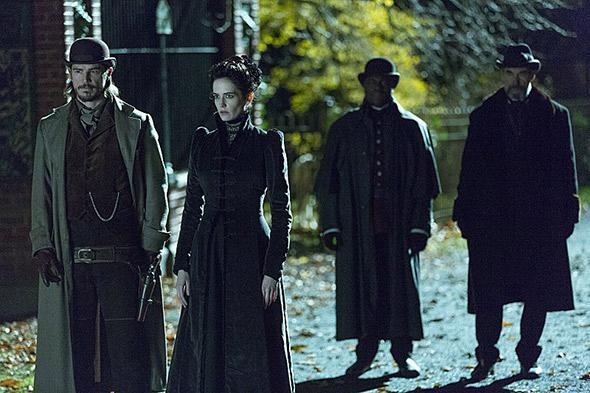 Timothy Dalton, Josh Hartnett, Danny Sapani and Eva Green in Penny Dreadful (2014).