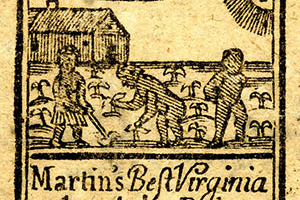An 18th-century advertisement for Virginia tobacco.