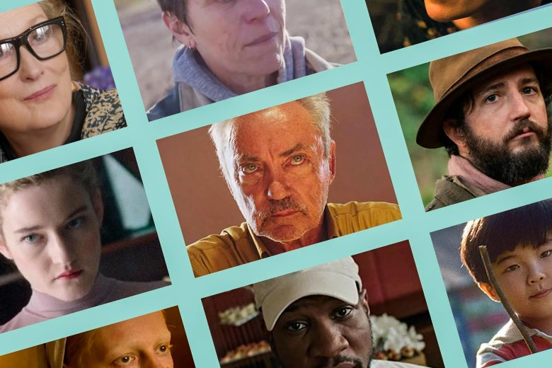 Various still images from some of the movies on the list.