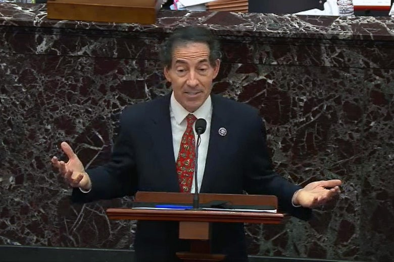 Lead Impeachment Manager Rep. Jamie Raskin (D-MD) speaks on the fourth day of former President Donald Trump's second impeachment trial.