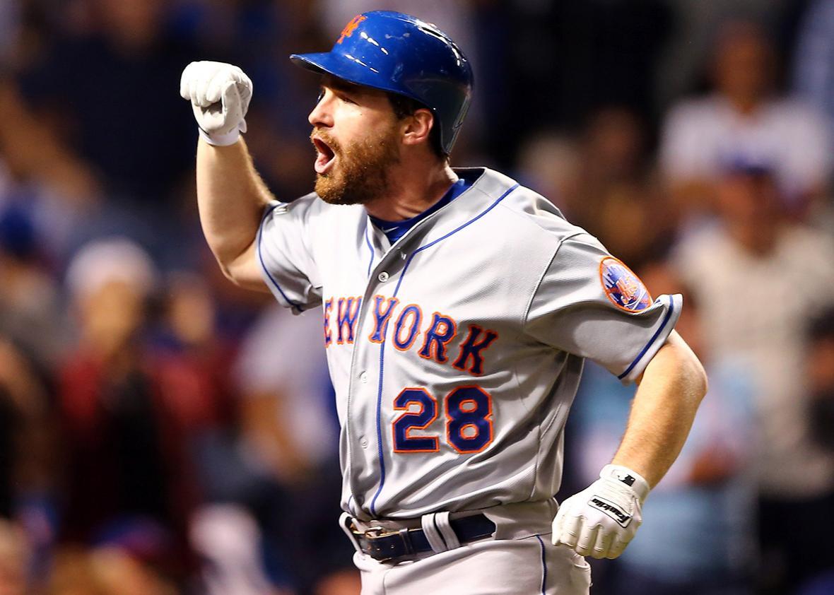 Daniel Murphy #28 of the New York Mets.
