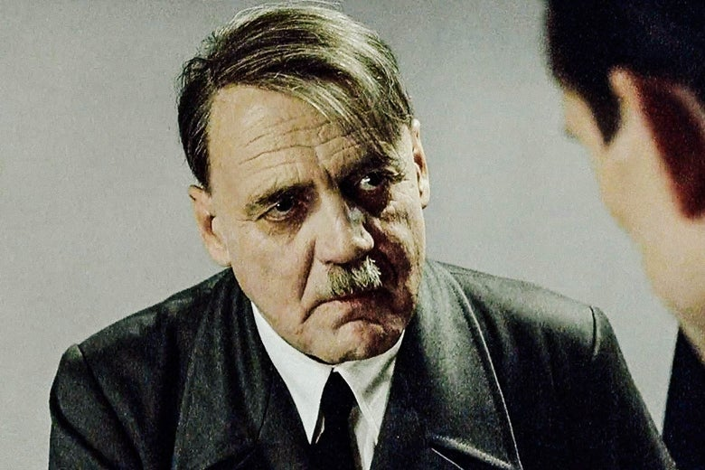 Bruno Ganz as Hitler in Downfall.