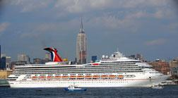 A cruise ship in New York city. Click image to expand.