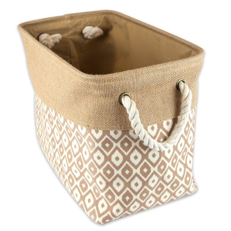 DII Collapsible Burlap Storage Basket