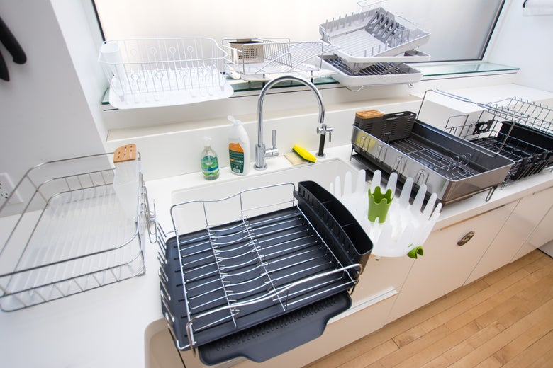 variety of dish racks