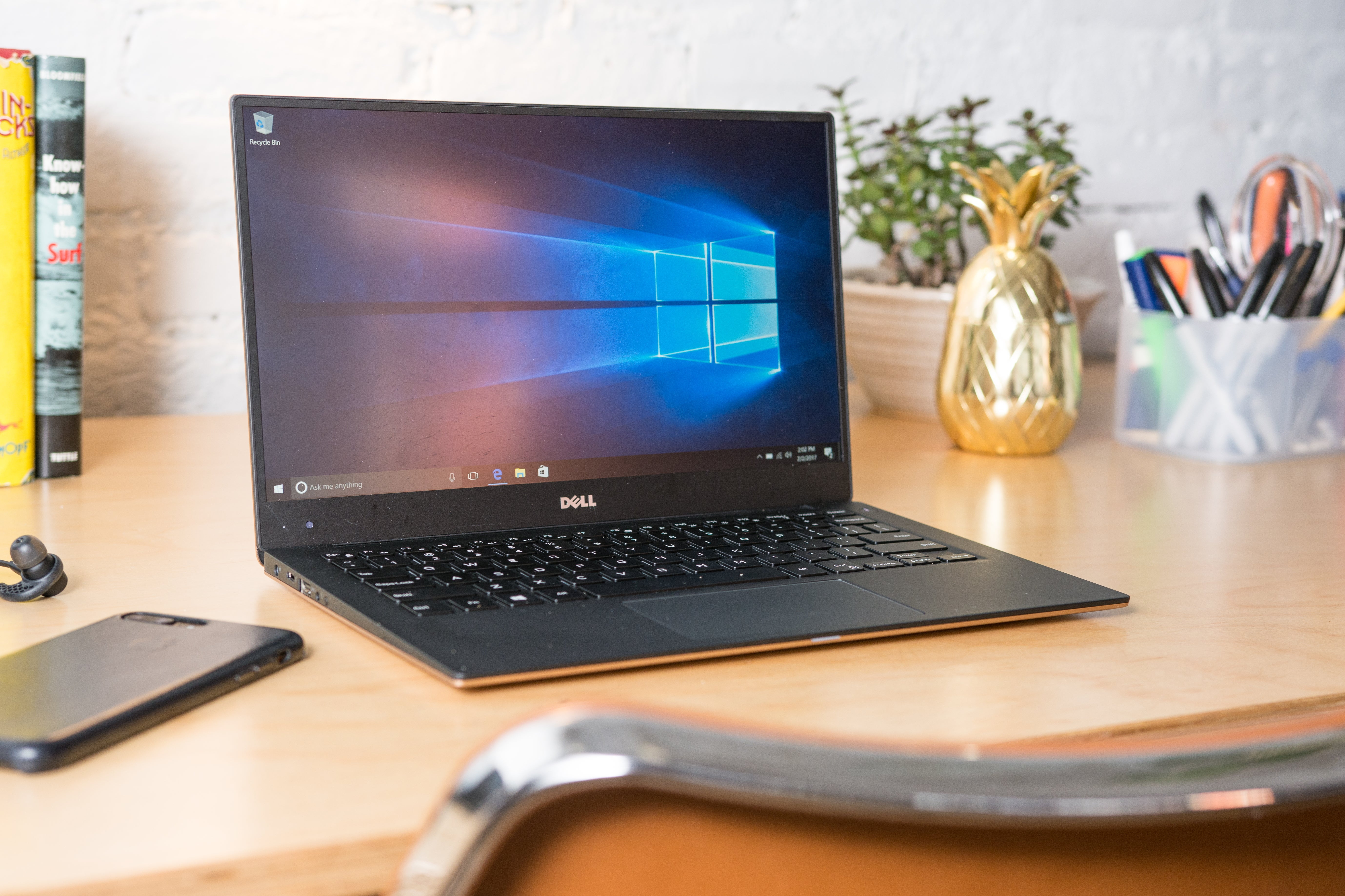 Dell XPS 13 on a desk.
