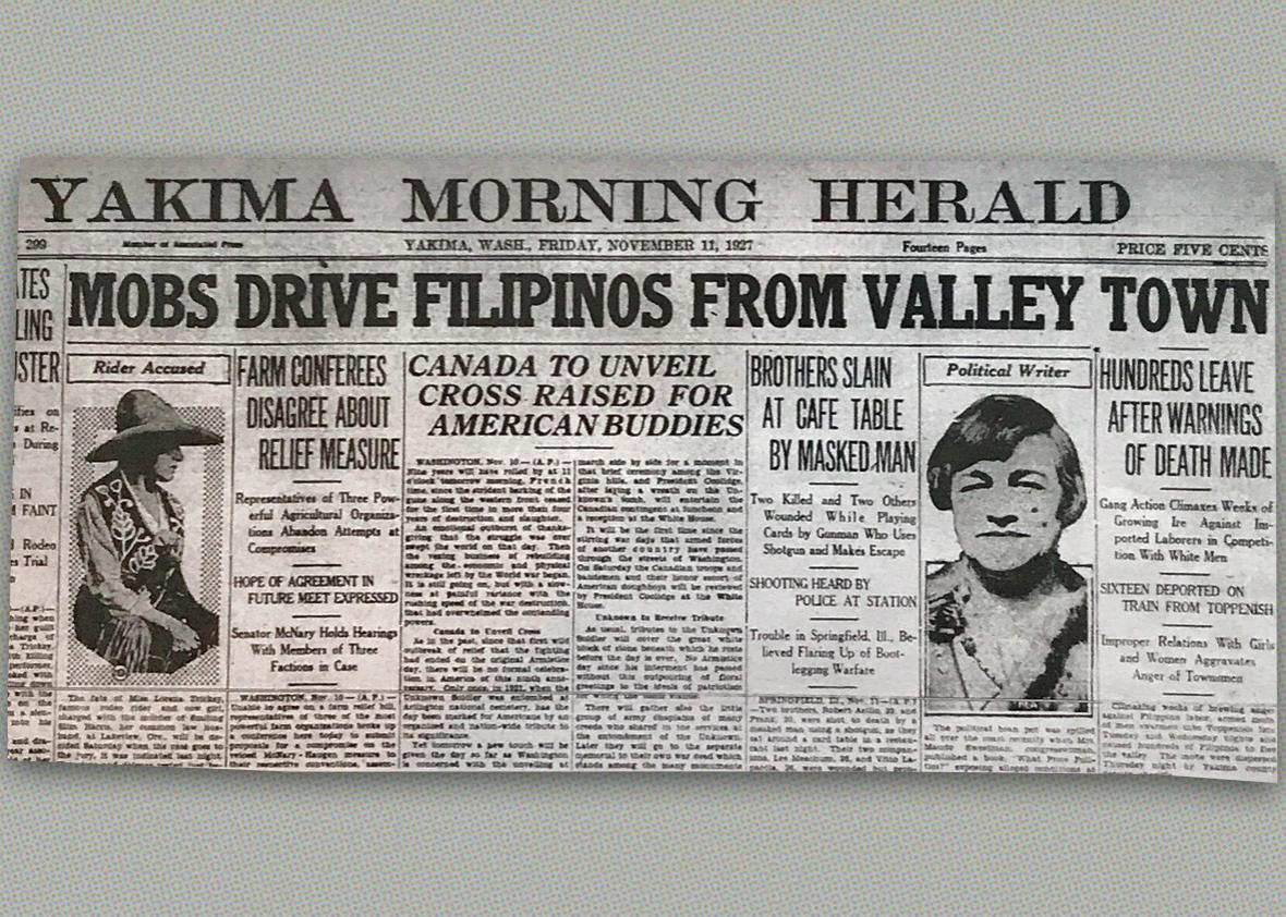 Friday, Nov. 11, 1927 of the Yakima Morning Herald