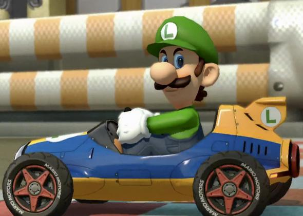 The Luigi Death Stare Meme From Nintendo S Mario Kart 8 Is