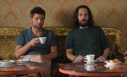 "Adam Scott and Paul Rudd in ""Our Idiot Brother."""
