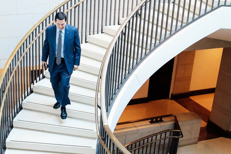 House Intelligence Committee Chairman Devin Nunes walks to a closed-door committee hearing at the U.S. Capitol on Feb. 27 in Washington.