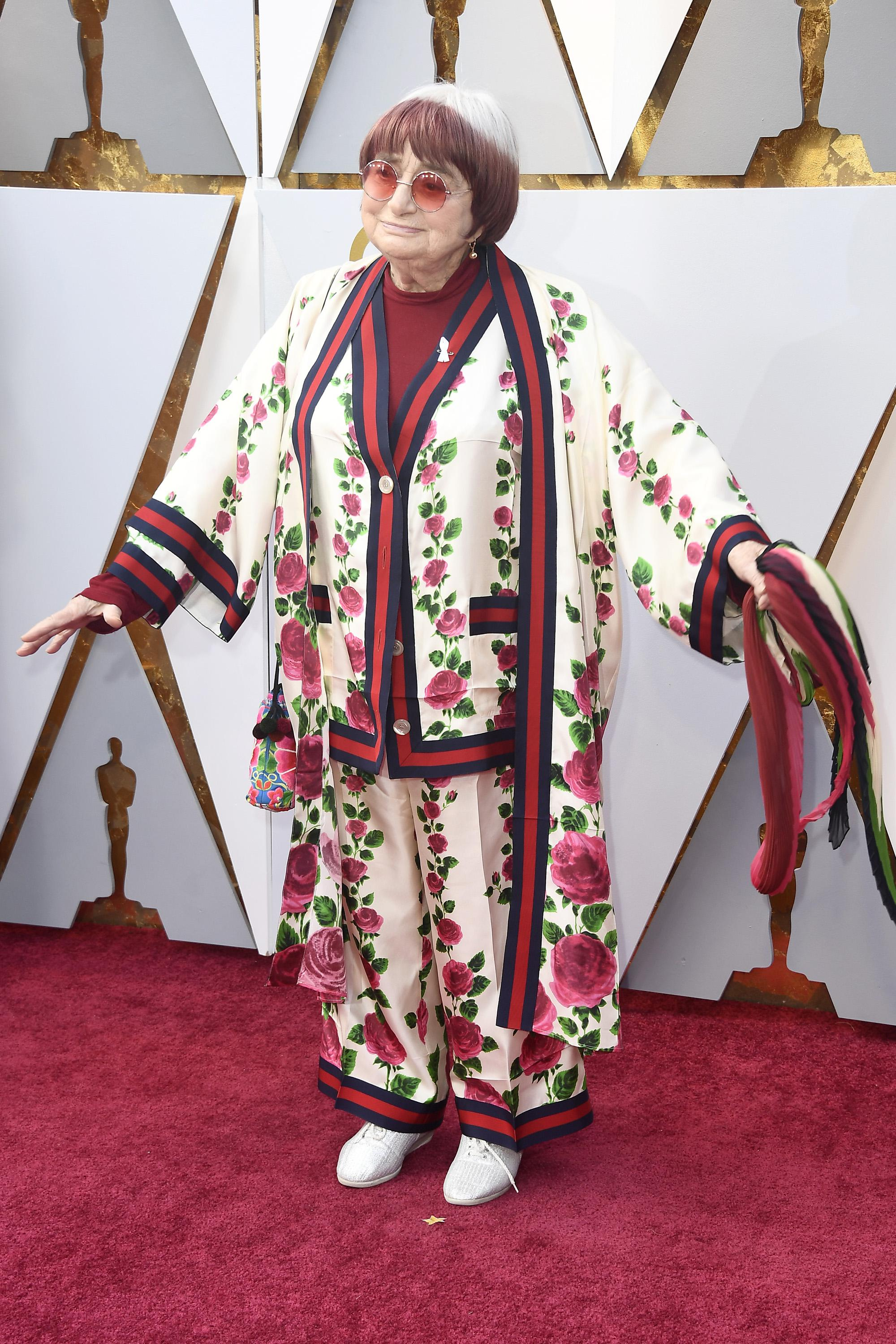 Agnes Varda attends the 90th Annual Academy Awards at Hollywood & Highland Center on March 4, 2018 in Hollywood, California.  (Photo by Frazer Harrison/Getty Images)