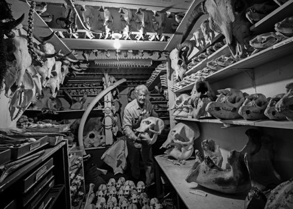 Raymond Bandar and his 'Bone Palace""