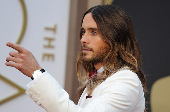 Jared Leto at the 86th Academy Awards on March 2nd, 2014 in Hollywood, California.