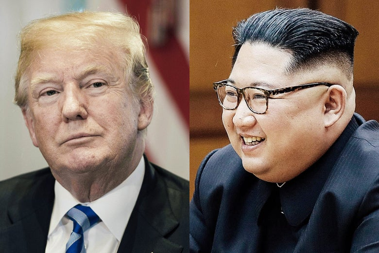 U.S. President Donald Trump and North Korean leader Kim Jong-un.