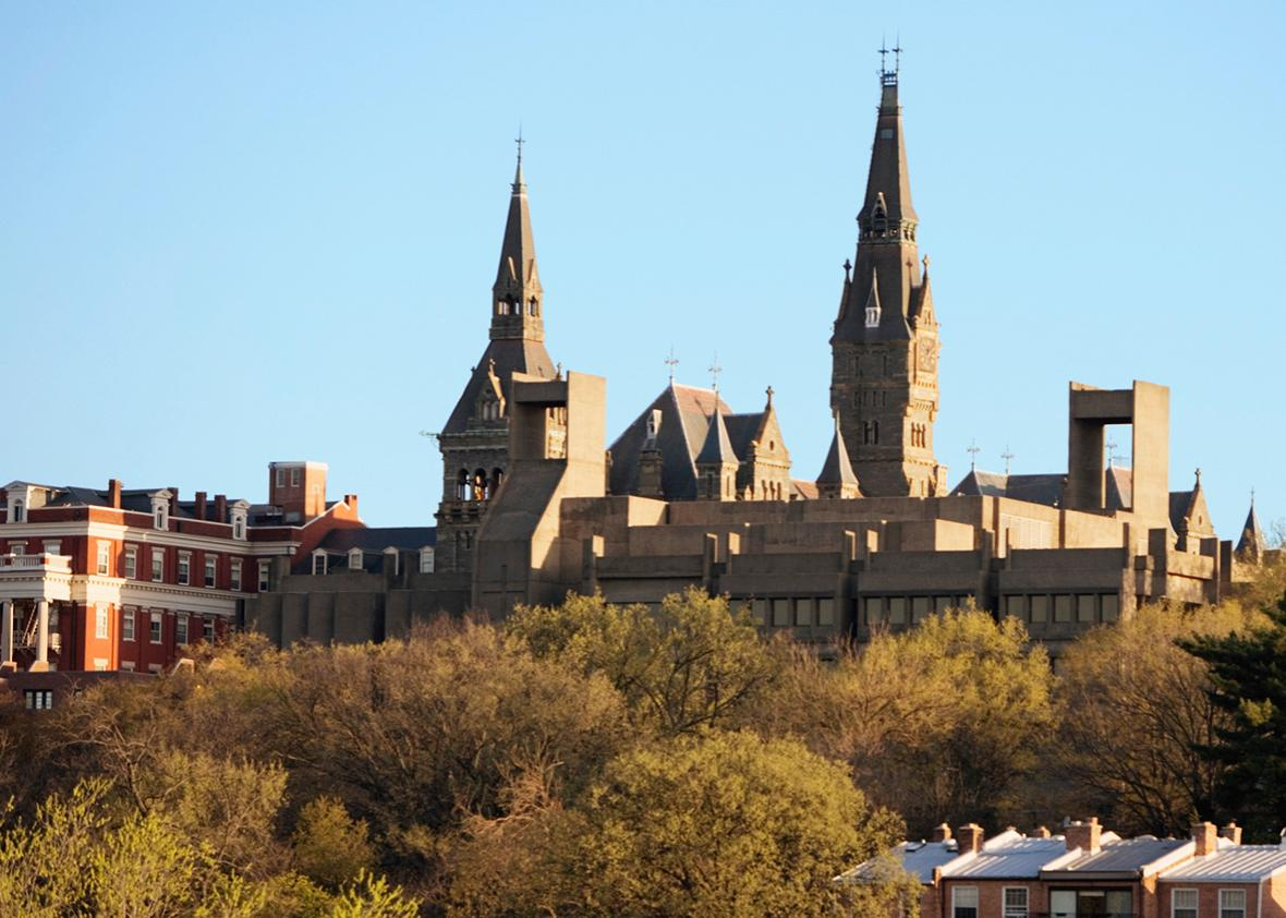 Panoramic view of Georgetown University, Washington, D.C.